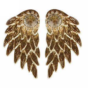 angel wing earrings studs - trendyby.com