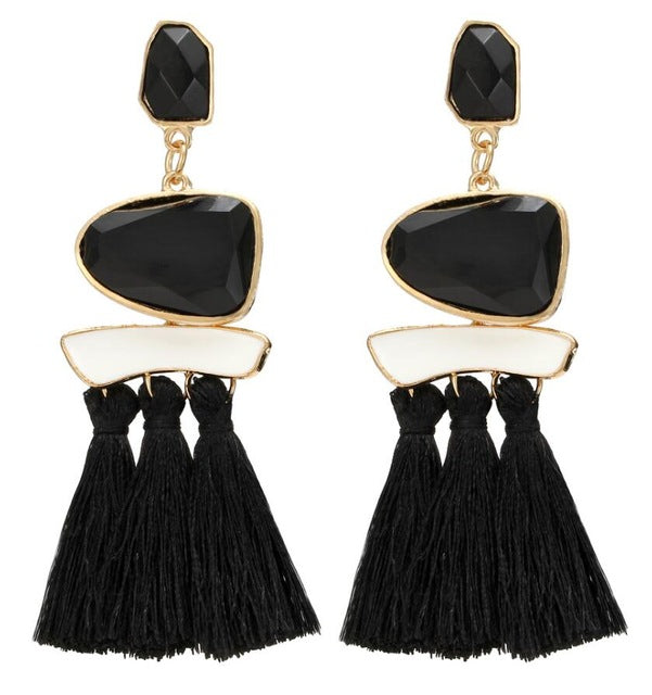 Boho Drop Dangle Fringe Earring - trendyby.com
