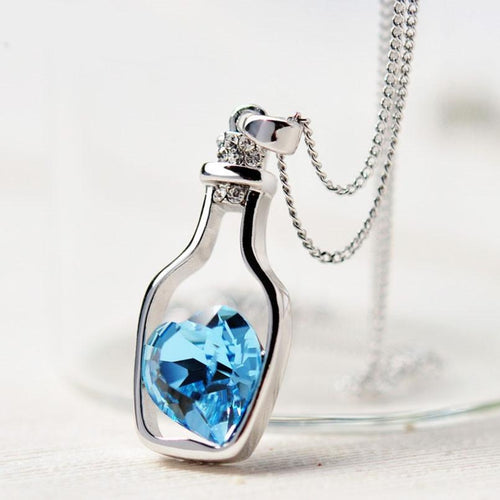 3 colors Heart Crystal Pendant - trendyby.com