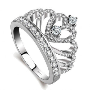 Sterling Silver Lovers Crown Ring - trendyby.com