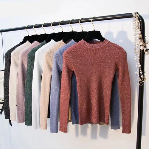 Long Sleeve Pullover Women Basic Sweater Tops - trendyby.com