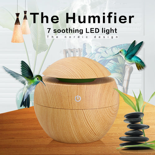 Mini Wood Grain Air Humidifiers Diffuse - trendyby.com