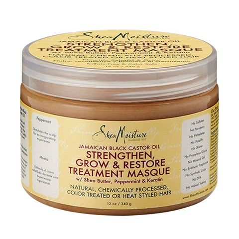Shea Moisture amaican Black Castor Oil Strengthen Grow and Restore Treatment Masque, 12oz