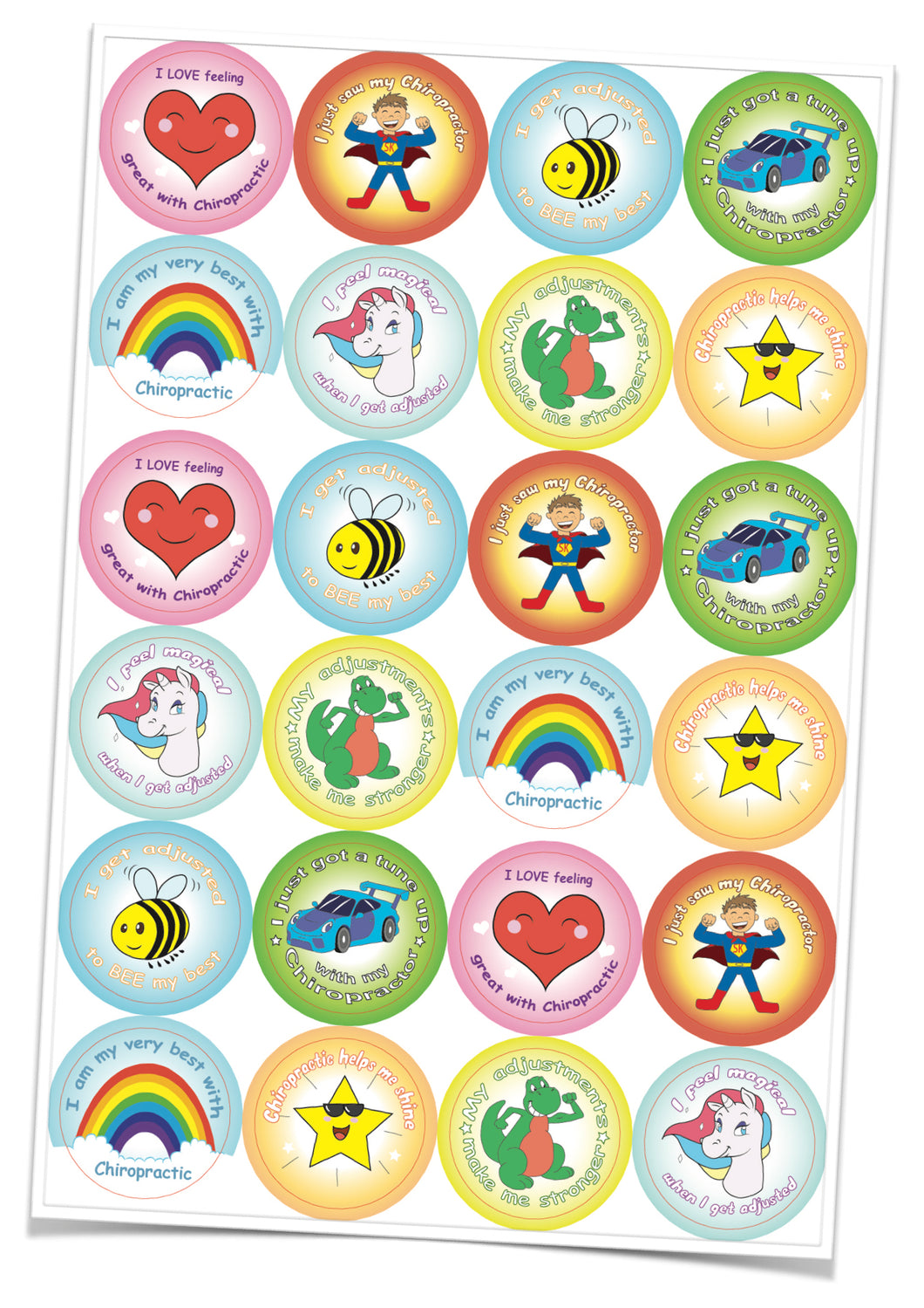 Biodegradable Stickers for Chiro' Kids