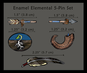 Enamel Pins: Elemental 5-pin Set