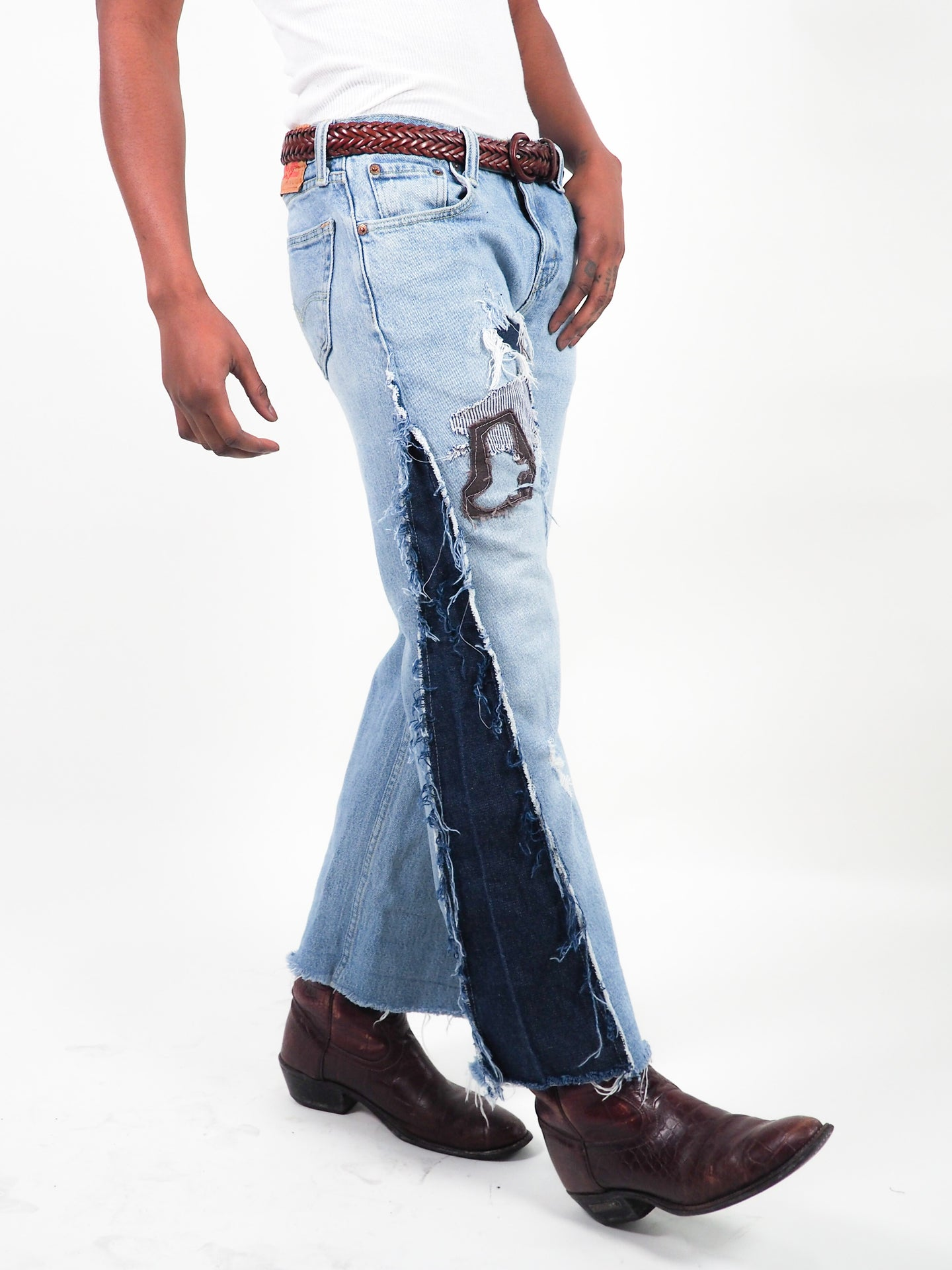 FLARED SPUR DENIM