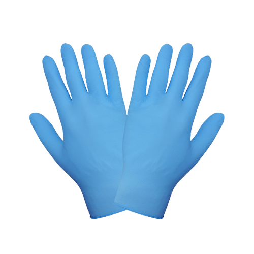 100 x Medium Blue Disposable Nitrile Gloves