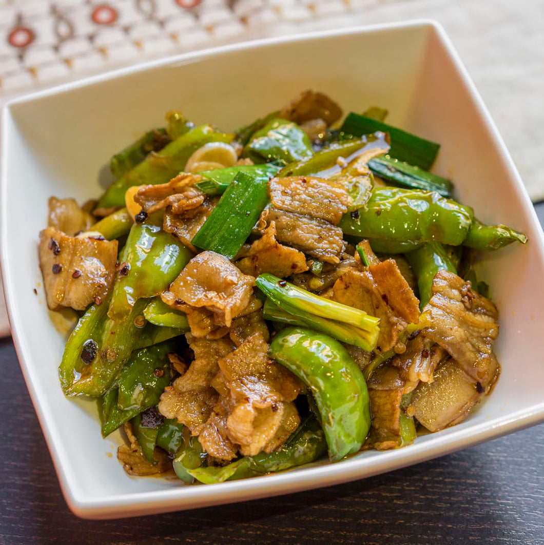 农家小炒肉 Sautéed Sliced Pork w. Green Chili