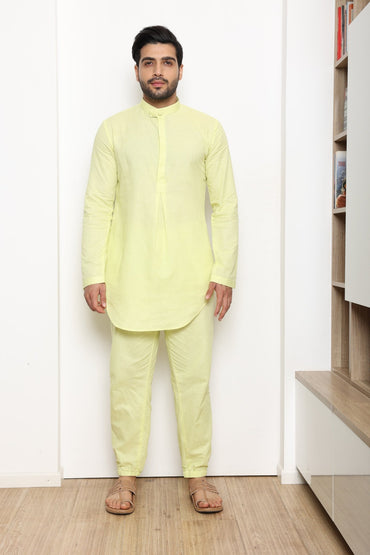 MINT GREEN KURTA SET - Arjun Kilachand