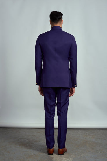 PURPLE CLASSIC BANDGALA SUIT - Arjun Kilachand