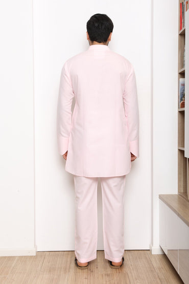 ROSE PINK KURTA SET - Arjun Kilachand