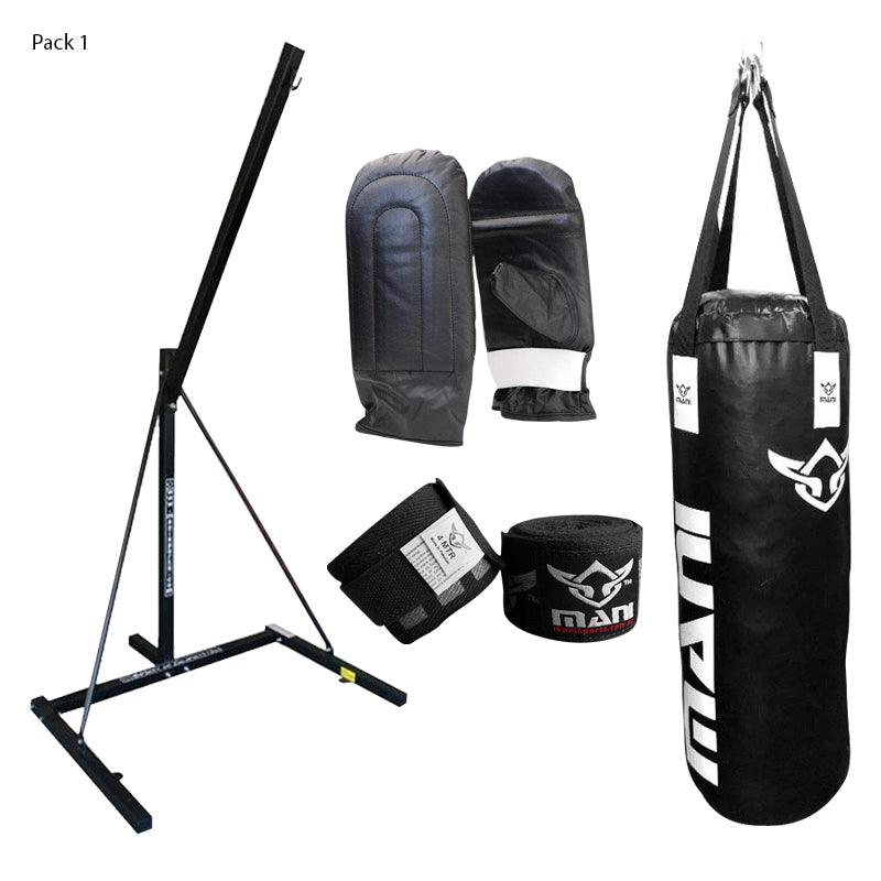 Single Bag Stand + Bag + Mitts + Hand Wrap Combo - Mani Sports®