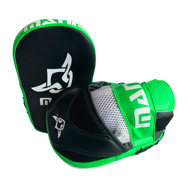 Kids Curved Focus Pads Green - Mani Sports®