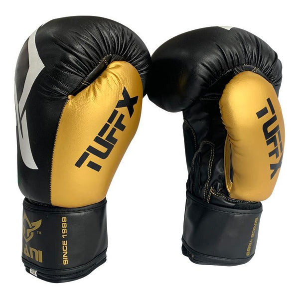 TuffX Boxing Gloves Gold - Mani Sports®