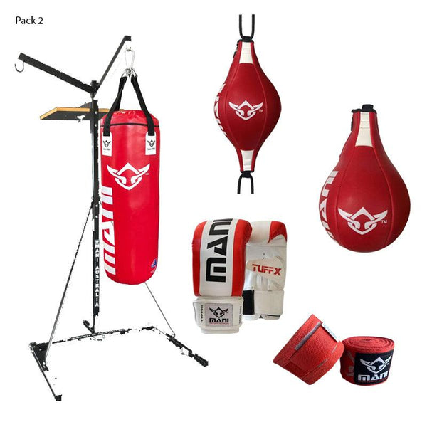 3 in 1 Bag Stand Combo with Mitts and wraps - Mani Sports®