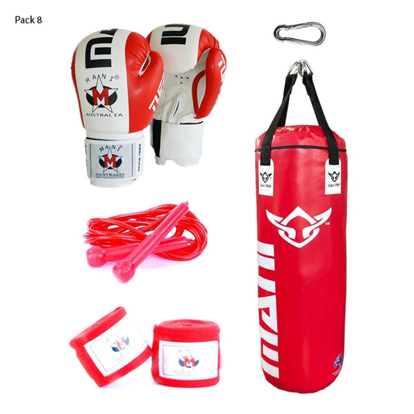 4FT PUNCHING BAG + BOXING GLOVES + SPEED ROPE + HAND WRAPS + SNAP HOOK