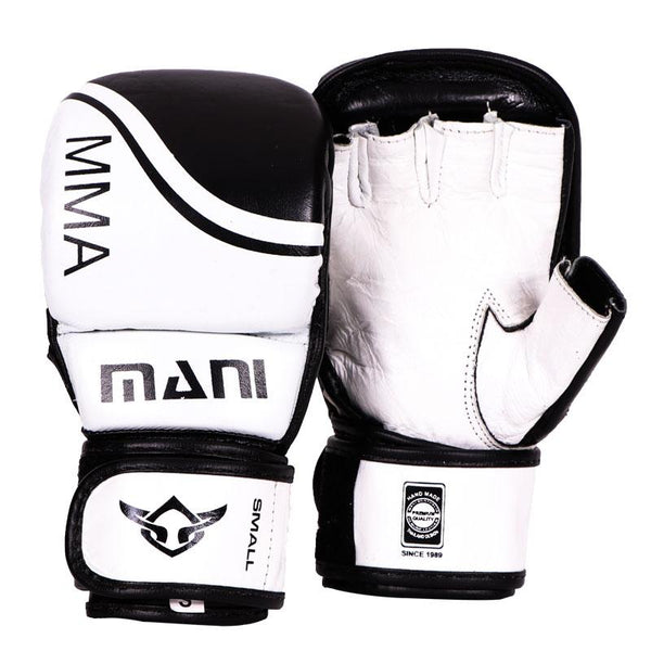 MMA Leather Grappling Sparring Gloves - Mani Sports®