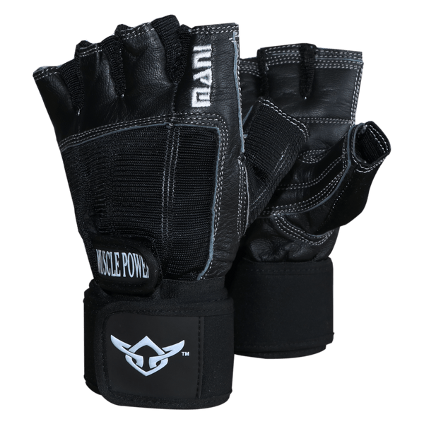 Deluxe Leather Muscle Power Gloves - Mani Sports ®