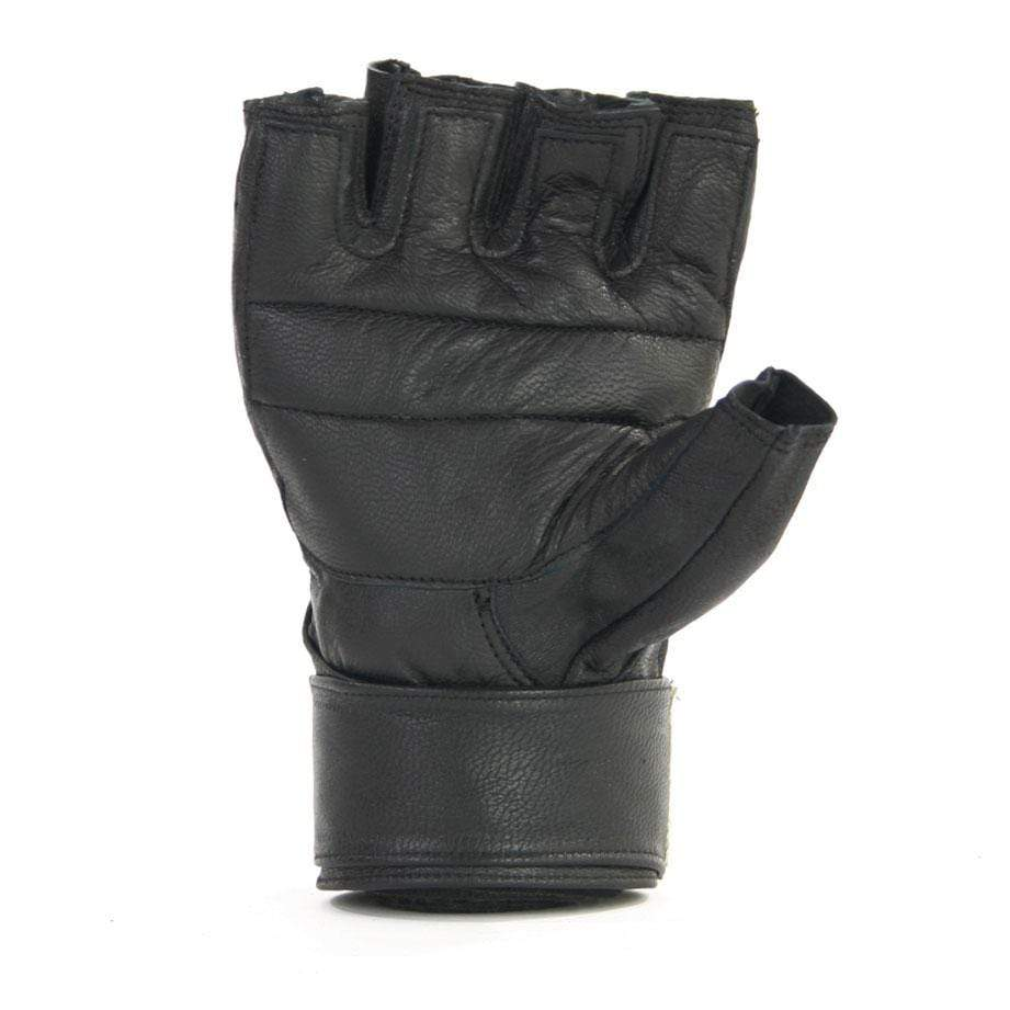 Leather Training gloves with Wrist Wrap - Mani Sports®
