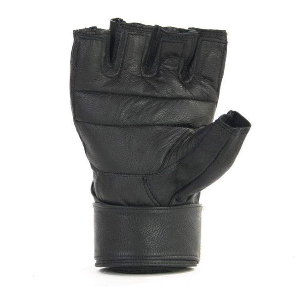 Leather Training gloves with Wrist Wrap - Mani Sports ®