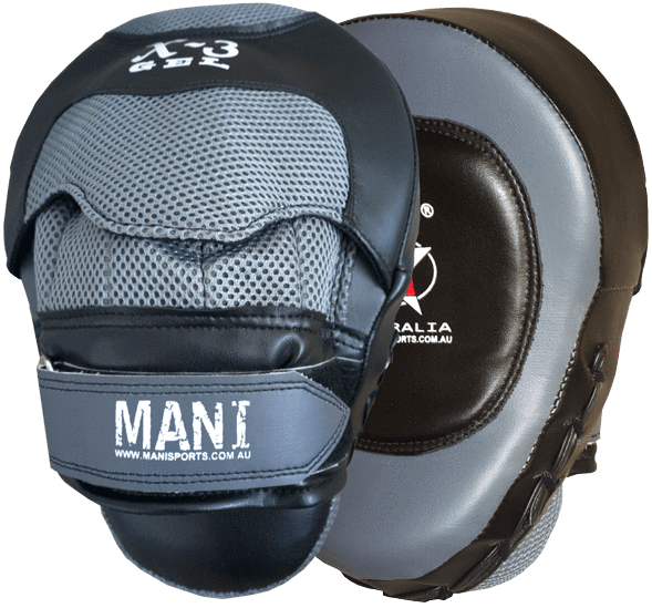 Gel Curved Leather Focus Pads - Mani Sports®