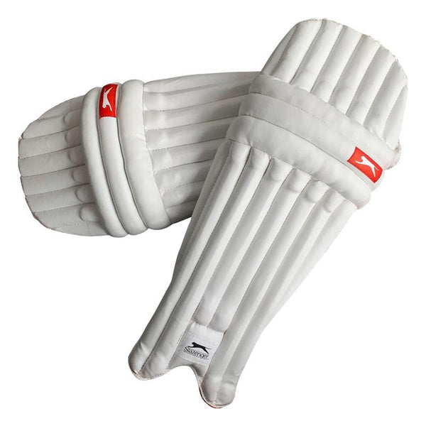 Slazenger Cricket Batting Pads, Unisex in White