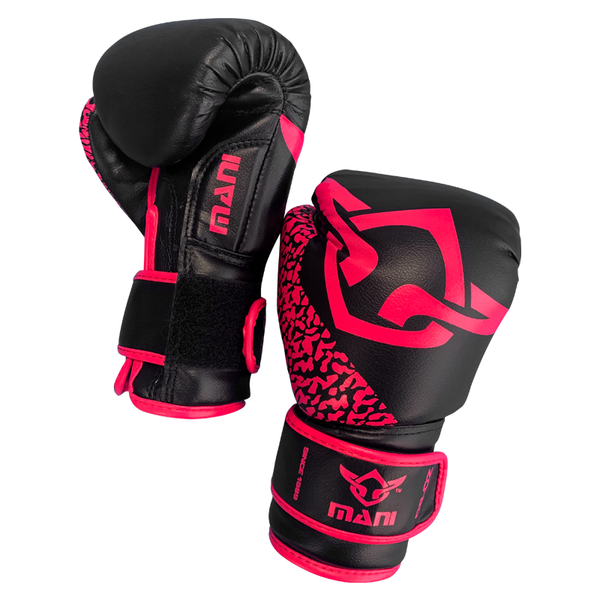 Kids Boxing Gloves Black & Pink - Mani Sports®