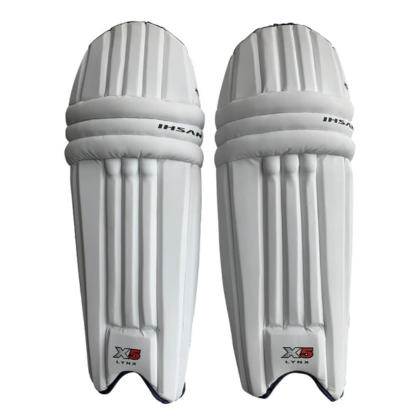 Ihsan Cricket Batting Pads, Test Cricket Unisex in White X5 - Mani Sports®