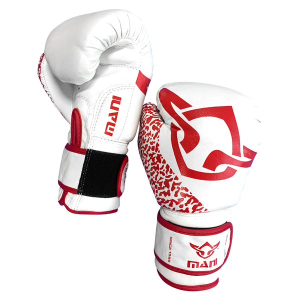 Kids Boxing Gloves Red and White - Mani Sports®
