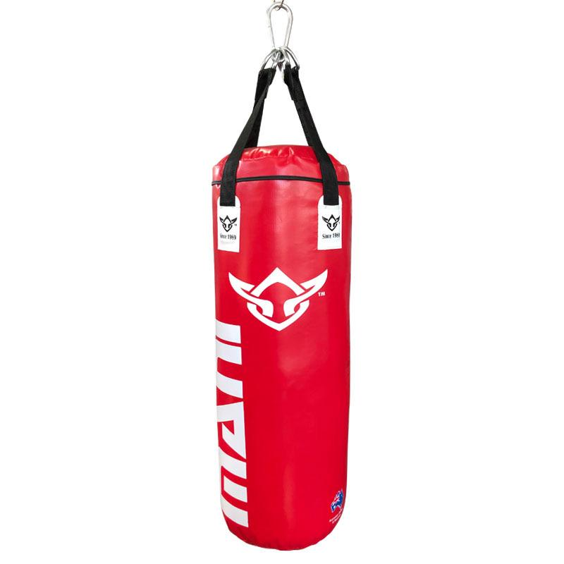 Punching Bags 3ft - Filled Deluxe Heavy in Red - Mani Sports®