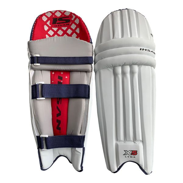Ihsan Cricket Batting Pads, Test Cricket Unisex in White X5