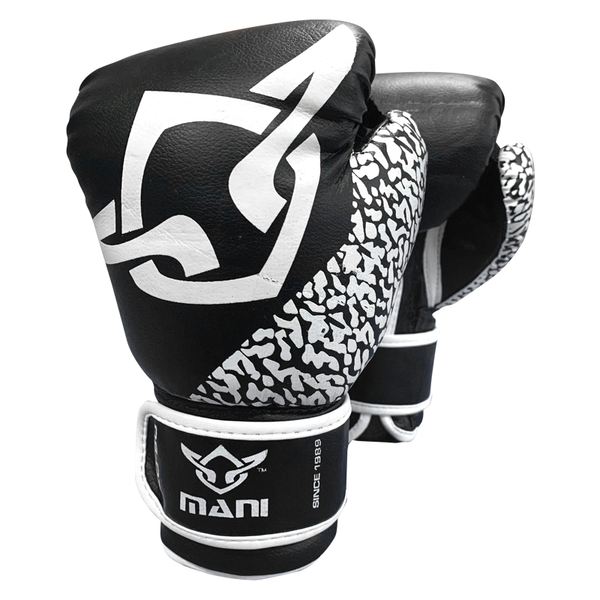 Kids Boxing Gloves Black & White - Mani Sports®