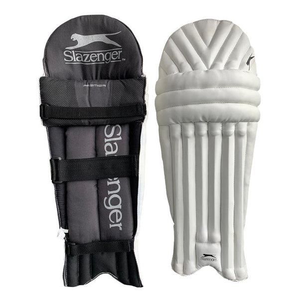 Slazenger Cricket Batting Pads, junior-Unisex in White
