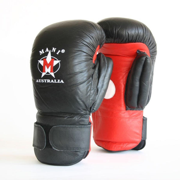 2 in 1 Leather Boxing Gloves/Pads - Mani Sports®