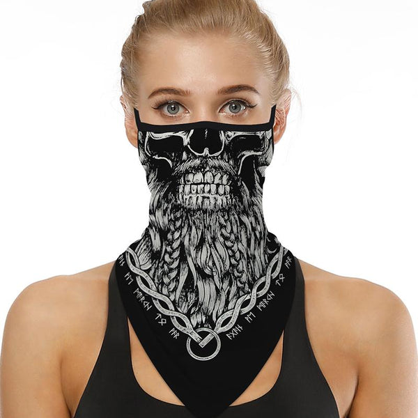Breathable Face Mask Beard Skull with Ear Loop - Mani Sports®