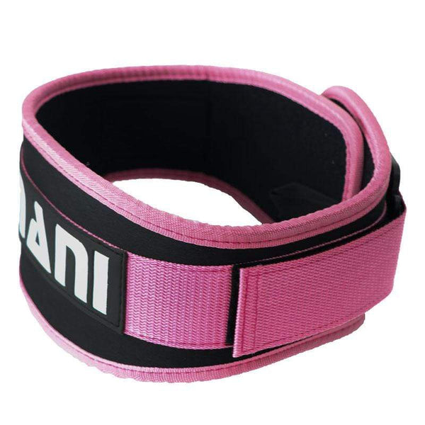 "Synthetic 4"" Pink Weight Training Belt - Mani Sports ®"