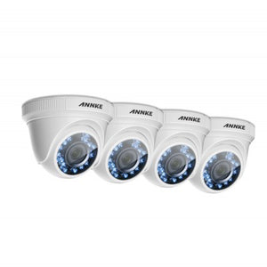 4X ANNKE 1080P HD IR Dome Camera (plastic housing)