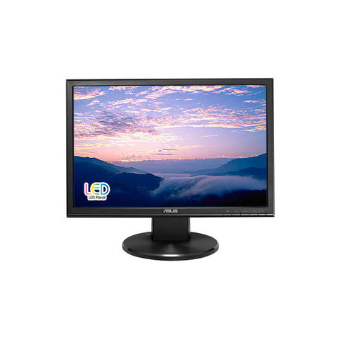 Asus VW199T-P 19 inch WideScreen 10,000,000:1 5ms VGA/DVI LED LCD Monitor, w/ Speakers (Black)