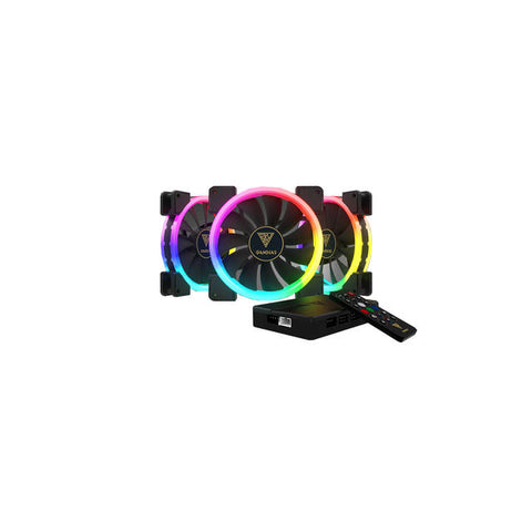 Gamdias AEOLUS M1-1403R RGB Case Fan with Remote controller and AEOLUS Box II (3 Pack)