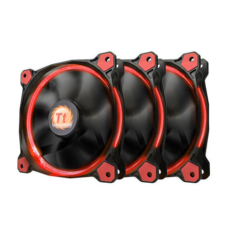 Thermaltake Riing 120mm Red LED Case Fan (3 fans pack)