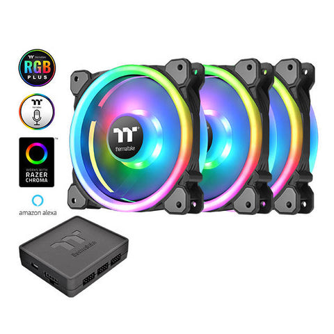 Thermaltake Riing Trio 140mm LED RGB Radiator Fan TT Premium Edition (3-Fan Pack)