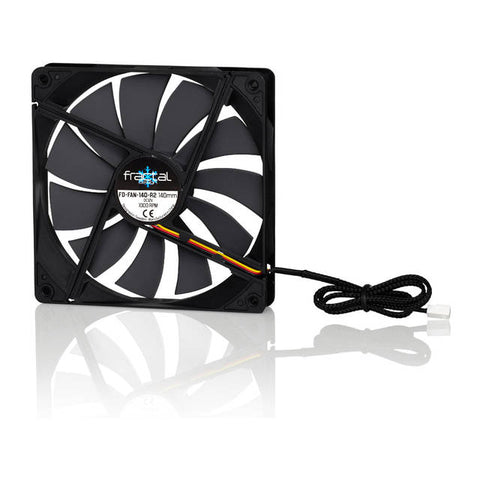 Fractal Design Silent Series R2 Blackout Edition FD-FAN-SSR2-140-BK 140mm Case Fan