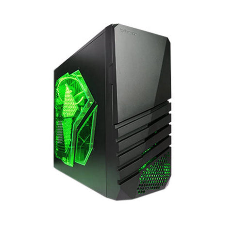 Apevia X-Pioneer No Power Supply ATX Mid Tower (Black/Green)