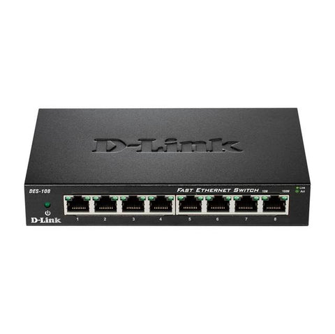 D-Link DES-108 8-Port Fast Ethernet Desktop Switch