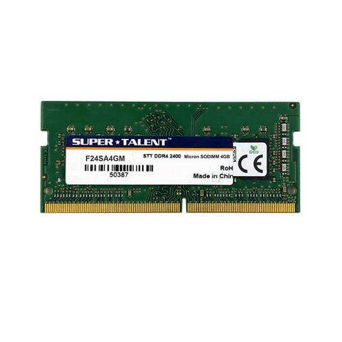 Super Talent DDR4-2400 SODIMM 4GB Micron Chip Notebook Memory