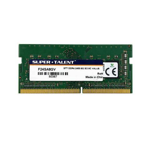 Super Talent DDR4-2400 SODIMM 8GB Value Notebook Memory