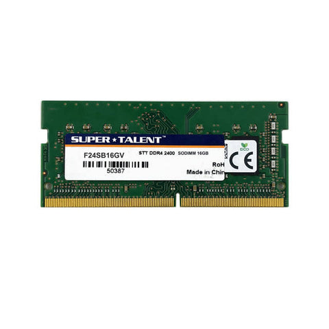 Super Talent DDR4-2400 SODIMM 16GB Value Notebook Memory