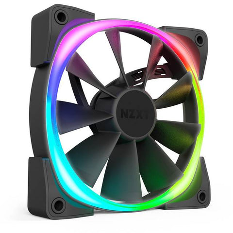 NZXT Aer RGB 2 Starter Kit HF-2812C-D1 2x 120mm LED Case Fan with HUE 2 Controller Powered by CAM