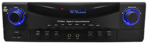 PyleHome PT570AU Amplifier - 350 W RMS - 5.1 Channel - FM, AM - USB AM/FM RADIO /USB/SD CARD AMPLIFIER