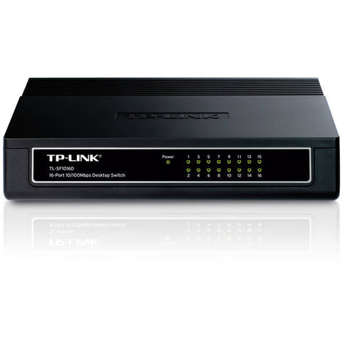 TP-Link TL-SF1016D 16-Port Unmanaged 10/100Mbps Desktop Switch